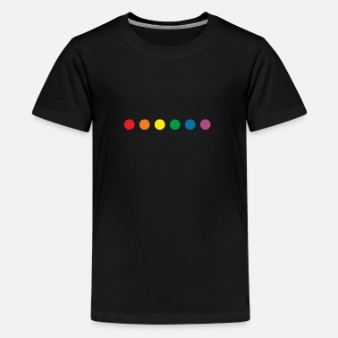 Gay Lgbt rainbow colors - Teenager Premium T-shirt