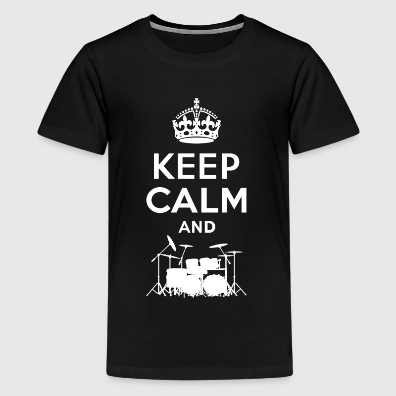 Keep Calm - Schlagzeug - Drums - Teenage Premium T-Shirt