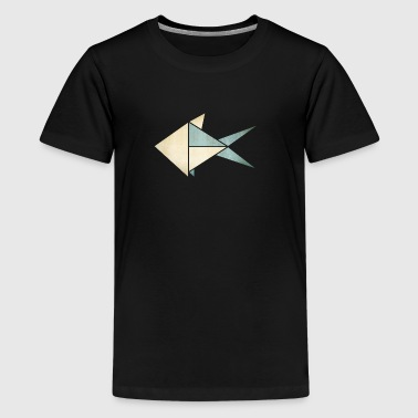 Origami: Fish (parchment paper look) - Teenager Premium T-shirt