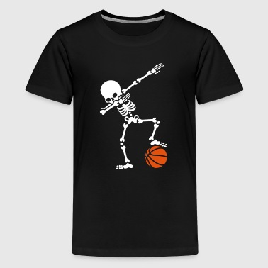 Dab dabbing skeleton football basketball - Camiseta premium adolescente
