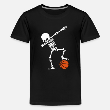 Baloncesto Dab dabbing skeleton football basketball - Camiseta premium adolescente