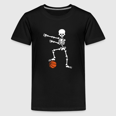 Basketball the floss dance flossing skelet - Teenager premium T-shirt