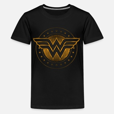 Woman Wonder Woman Comic Logo gold - Teenager Premium T-Shirt