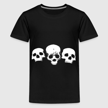 Deaths Head Skull Totenkopf Shirt - Teenager Premium T-Shirt