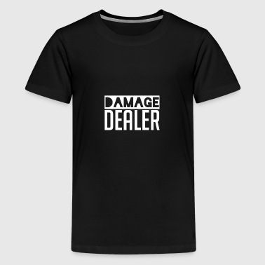 Damage Dealer - DD Gaming Gamer Damage Dealer - Maglietta Premium per ragazzi