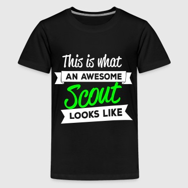 This is what an awesome scout looks like - Teenage Premium T-Shirt