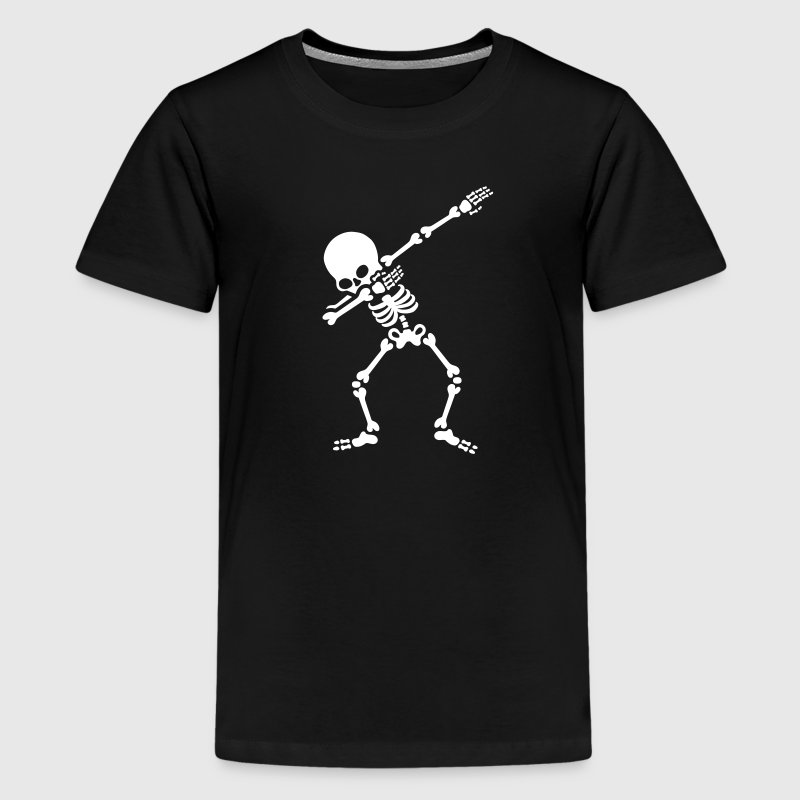 Dabbing skeleton (Dab) - Teenager premium T-shirt