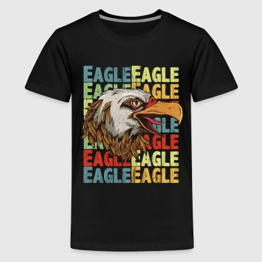 Eagle head with lettering Eagle - Teenage Premium T-Shirt