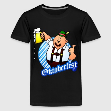 Oktoberfest - man in lederhosen - Teenage Premium T-Shirt
