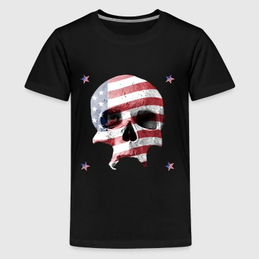 US-Flag Skull - Teenager Premium T-Shirt