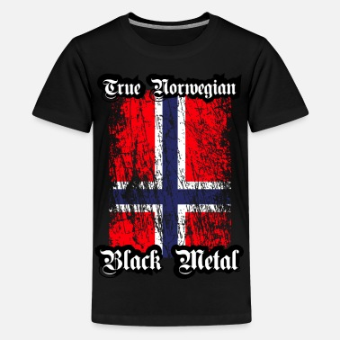 Metal Trve / True Norwegian Black Metal - Teinien premium t-paita
