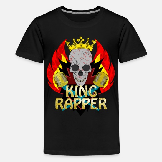 Rap T-shirts - King Rapper - Premium T-shirt teenager sort