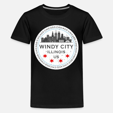 Chicago The Windy City Chicago Illinois US - Teenager Premium T-Shirt