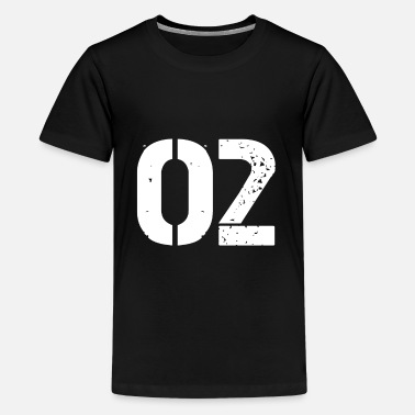 Jersey Number 02 jersey jersey number - Teenage Premium T-Shirt