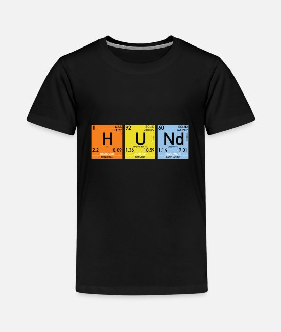 Periodic Table T-Shirts - Dogs nerd periodic table geek - Teenage Premium T-Shirt black