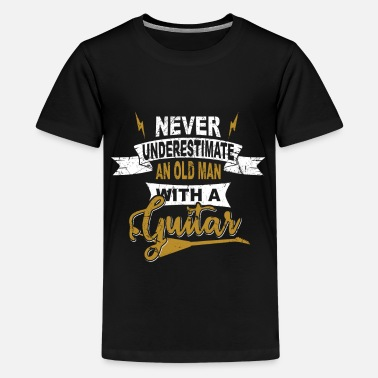 Never underestimate an old man GRUNGE - Teenage Premium T-Shirt