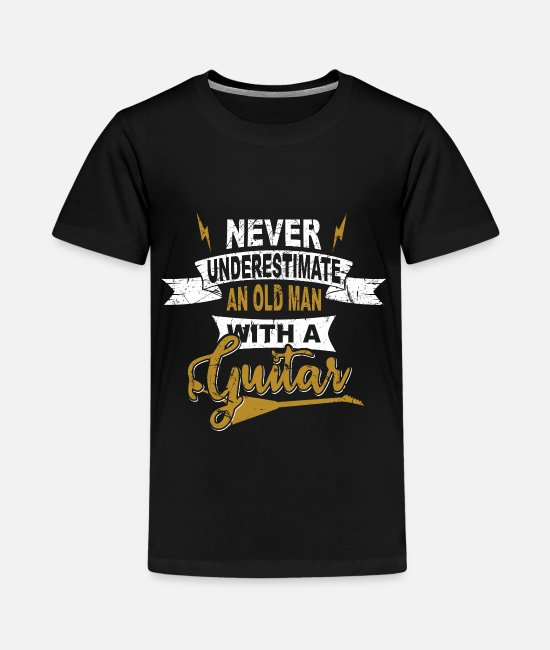 Guitar Player T-Shirts - Never underestimate an old man GRUNGE - Teenage Premium T-Shirt black