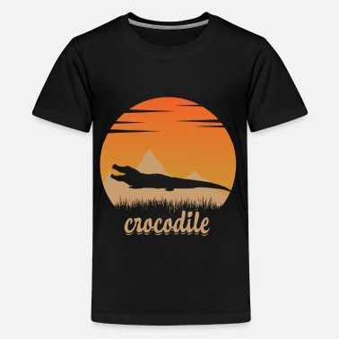 Crocodile in nature - Teenage Premium T-Shirt
