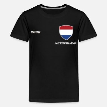 Fan Nederland voetbal shirt team 2020 - Teenager premium T-shirt