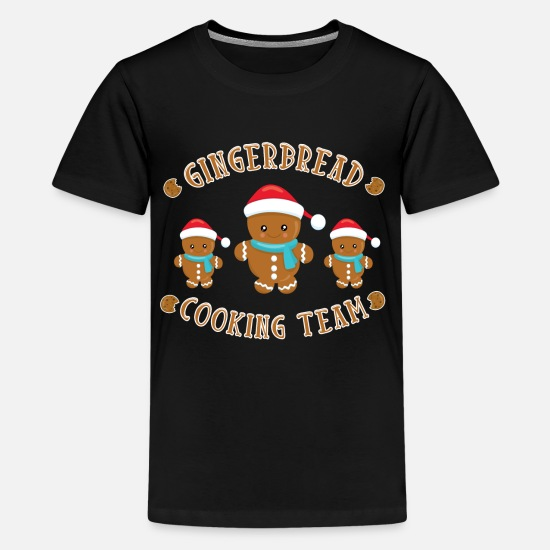 Gift Idea T-Shirts - Gingerbread gingerbread cooking team cookie - Teenage Premium T-Shirt black
