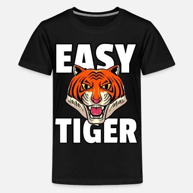 Indochinese Tiger big cat predator leopard cheetah - Teenage Premium T-Shirt