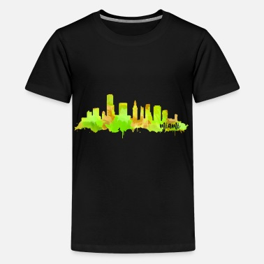 Hometown Miami hometown - Teenage Premium T-Shirt