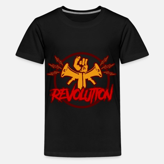 Antifaschistisch T-Shirts - revolution - Teenager Premium T-Shirt Schwarz