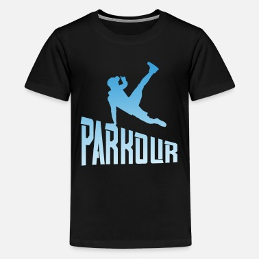 Free Running Parkour Freerunner Free Run-atleet - Teenager premium T-shirt