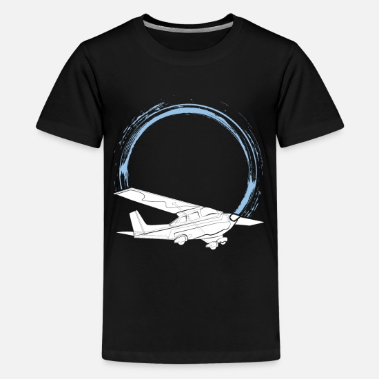 Pilot T-Shirts - pilot - Teenage Premium T-Shirt black