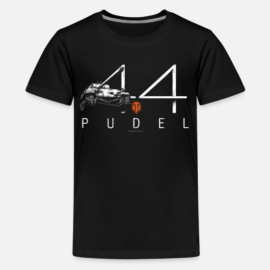 World T-Shirts - World of Tanks WoW PUDEL 44 - Teenage Premium T-Shirt black