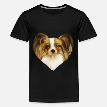Papillon hondenras - Teenager premium T-shirt
