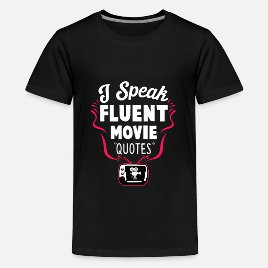 Birthday T-Shirts - Movie Cineast Fan Cinema Lover Movies Gift - Teenage Premium T-Shirt black