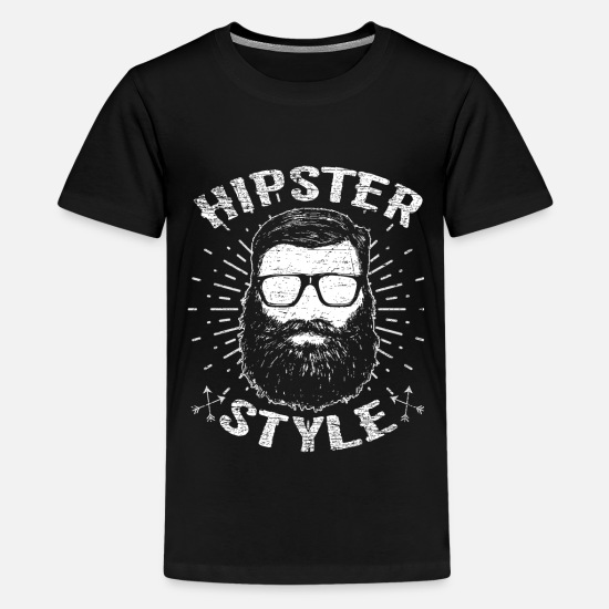 Beard T-Shirts - hipster - Teenage Premium T-Shirt black