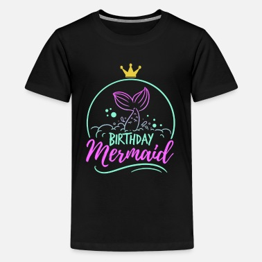 Birthday Party Birthday Mermaid Mom Fable Mythical Gift - Teenage Premium T-Shirt