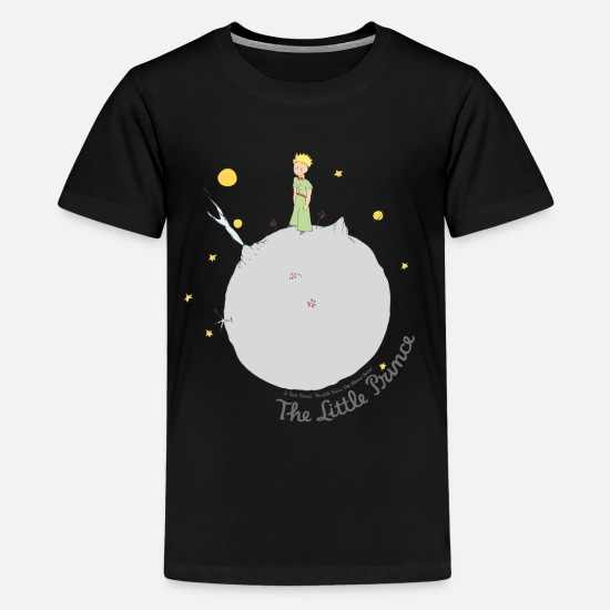 Drawing T-Shirts - The Little Prince Asteroid B612 Illustration - Teenage Premium T-Shirt black