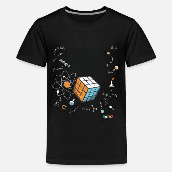 Geek T-Shirts - Rubik's Cube Science Is Cool - Teenage Premium T-Shirt black