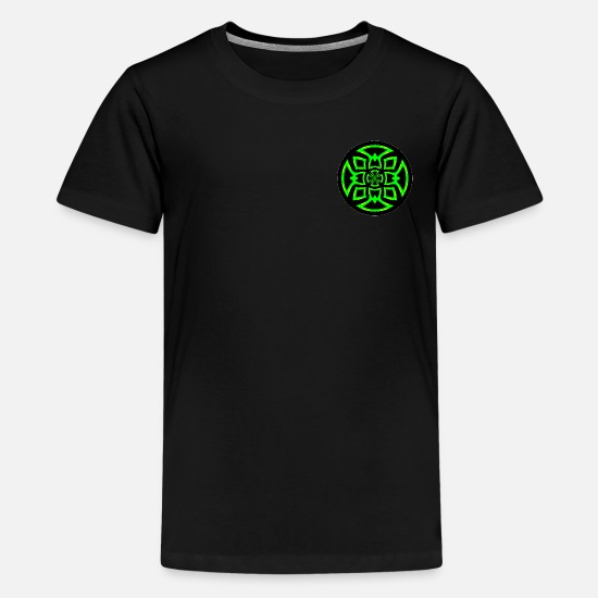 Symbol  T-Shirts - Futuristic and lively graphic design - Teenage Premium T-Shirt black