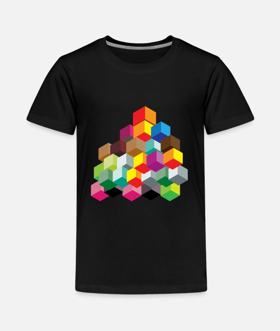 Geometry T-Shirts - Dice colorful - Teenage Premium T-Shirt black
