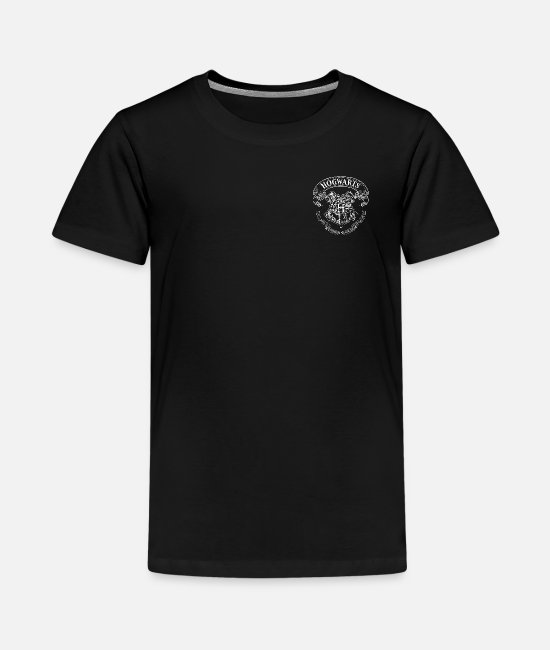 Official License T-shirts - Harry Potter Coat of Arms of Hogwarts small - Premium T-shirt tonåring svart