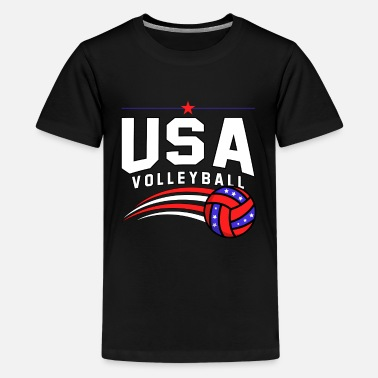 Drague Volley, volleyball de bloc, université - T-shirt premium Ado