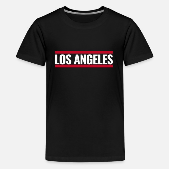 Lost Place T-Shirts - Los Angeles - Teenager Premium T-Shirt Schwarz