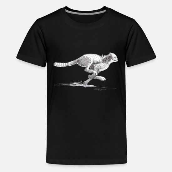 Cheetah T-Shirts - Cheetah - Teenage Premium T-Shirt black