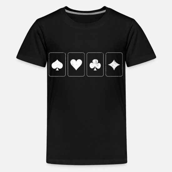 Poker T-Shirts - Kartenspiel Poker - Teenager Premium T-Shirt Schwarz