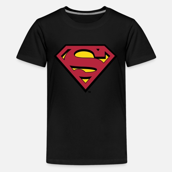 Nerd T-Shirts - Superman Logo S-Shield - Teenager Premium T-Shirt Schwarz