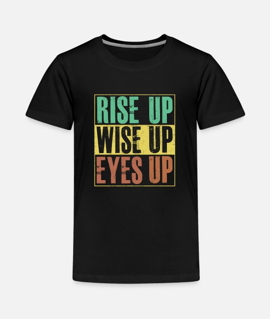Avanzamento Magliette - Maglietta Hamilton Rise Up Wise Up Eyes Up - Maglietta premium per teenager nero