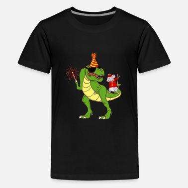 Festival Dinosaur Year Of The Rat Happy New Year 2020 - Teenage Premium T-Shirt