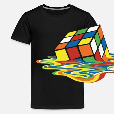 Rubik's Cube Melted Colourful Puddle - Maglietta premium per teenager