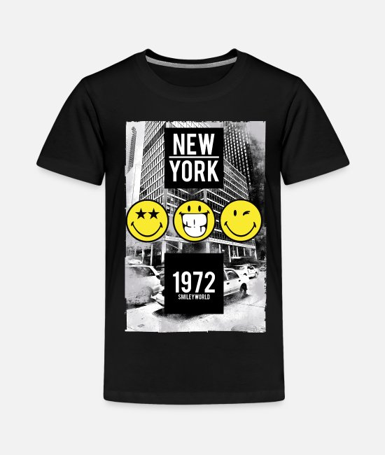 Smileys T-shirts - Smileyworld 'New York Statue of Liberty' - Premium T-shirt tonåring svart