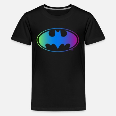 Officialbrands Batman néon logo ado Tee shirt manches des longue - T-shirt premium Ado