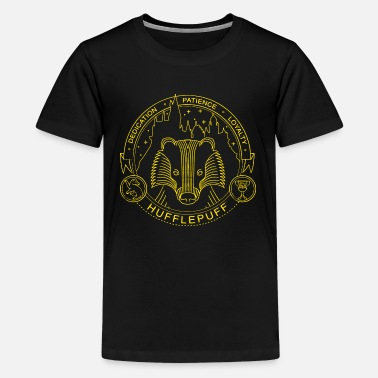Harry Potter Hufflepuff Gold - Teenager Premium T-Shirt